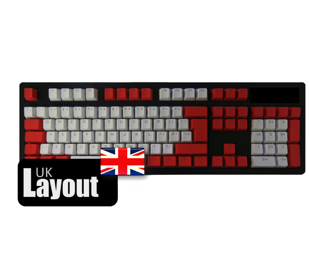 Tai-Hao PBT Backlit Double Shot Keycaps Red Alarm UK